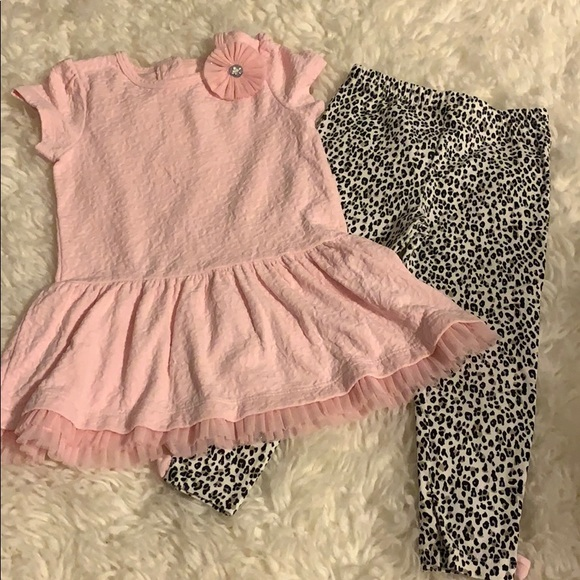 Little Me Other - Pink and cheetah print toddler set